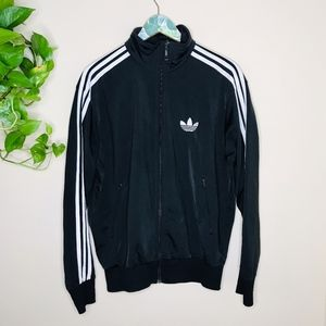 Adidas Original Track Top Black Superstar Medium